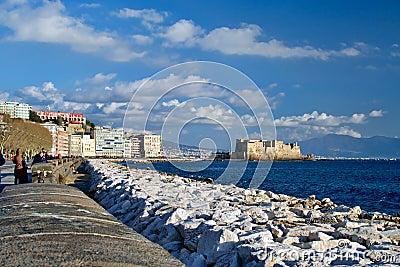 Castel dell Ovo, Naples Editorial Stock Image