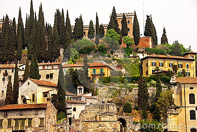 Castel San Pietro in Verona Stock Photo