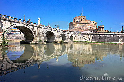 Castel Santangelo, Rome, Italy. Editorial Photo