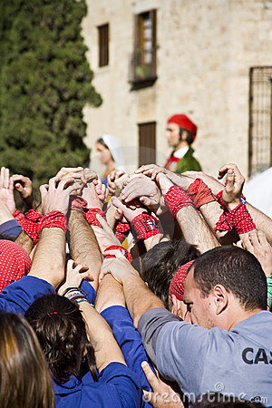 Castellers Editorial Stock Photo