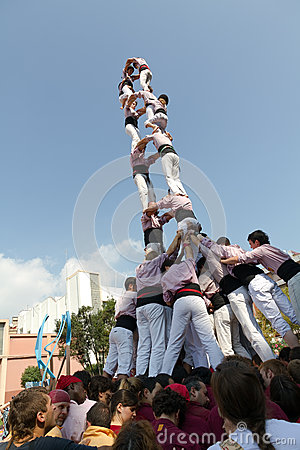 Castellers Editorial Photo