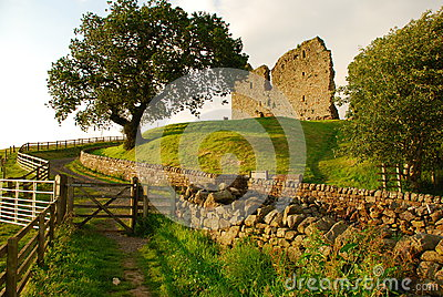 Castello di Thirlwall, paesaggio britannico, Inghilterra, Regno Unito