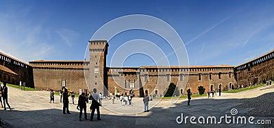 The Castello Sforzesco in Milano (Italia) Editorial Photo
