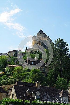 Castelnau castle in Dordogne france