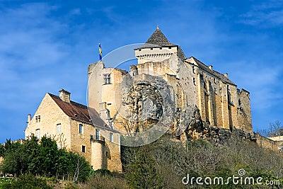 Castelnaud La Chapelle s castle in Dordogna