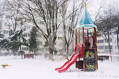 Castelo de congelação do campo de jogos