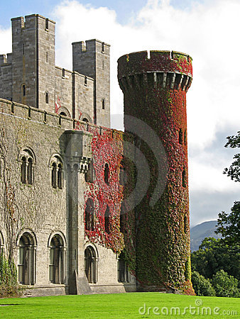Castelo de Penrhyn em Wales, Reino Unido