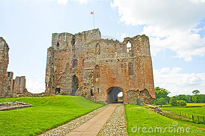 Castelo do Brougham uma fortaleza perto de Penrith. Fotografia Editorial