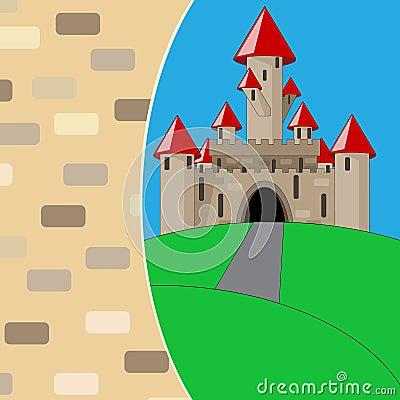 Castelo medieval dos desenhos animados