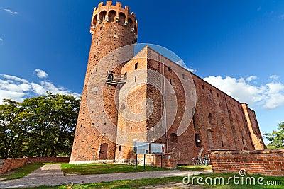 Castelo Teutonic medieval em Poland