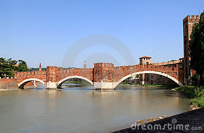 Castelvecchio Bridge over the Adige River, Verona