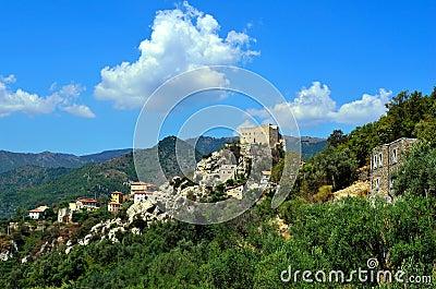 Castelvecchio di rocca barbena (savona)italy