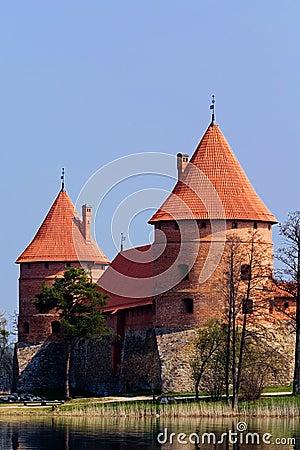 Castillo con agua