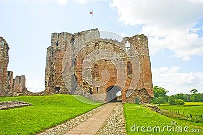 Castillo de la berlina una fortaleza cerca de Penrith. Fotografía editorial