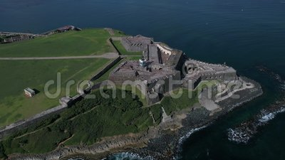 Castillo DE San Cristobal Puerto Rico Island stock video