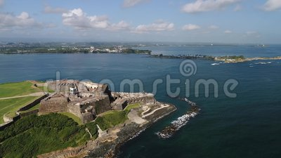 Castillo-De San Cristobal in Puerto Rico Island stock video footage
