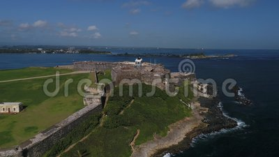 Castillo de San Cristobal in Puerto Rico Island stock video footage