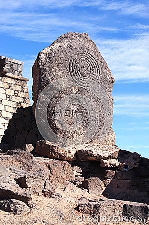 Castillo de San Gabriel landmark, Arrecife, Lanzarote, Canary Is
