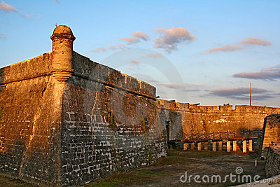 Castillo de San Marcos in St. Augustine, Florida
