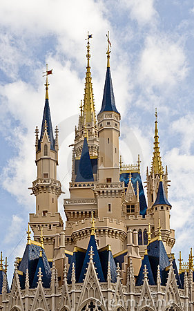 Castillo del mundo de Disney Foto editorial