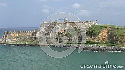 Castillo San Felipe del Morro Puerto Rico almacen de video
