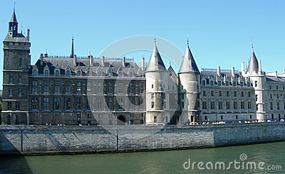 Castle alongside Seine in Paris