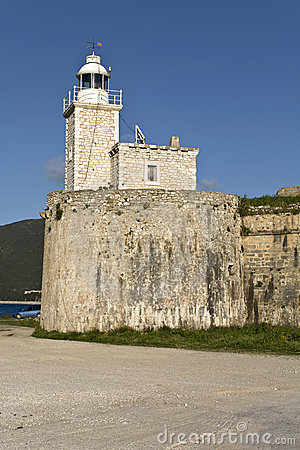 Castle of Ayia Mavra at Lefkada, Greece