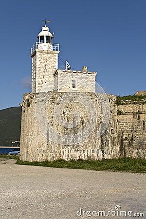 Castle of Ayia Mavra at Lefkada, Greece