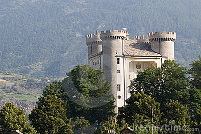 The castle of Aymavilles