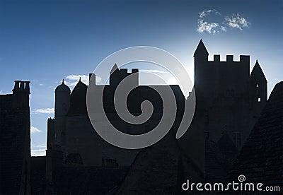 Castle back lit