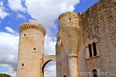 Castle Bellver in Majorca at Palma of Mallorca