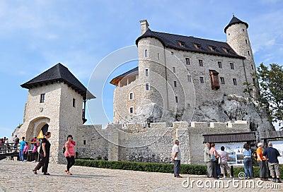 Castle of Bobolice, Poland Editorial Photo