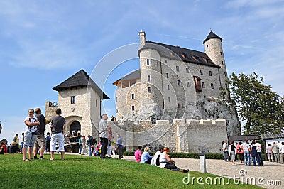 Castle of Bobolice, Poland Editorial Stock Photo