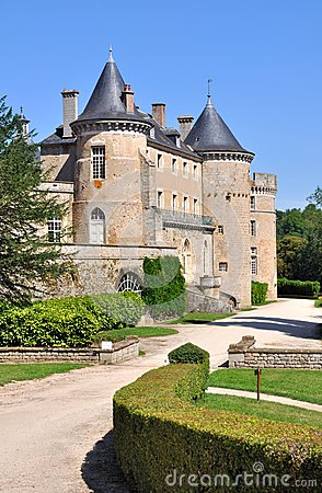 Castle in Burgundy (France)