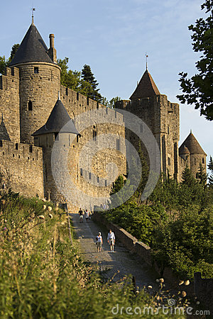 Castle of Carcassonne - France Editorial Photo