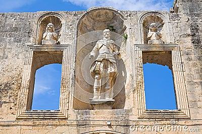 Castle of Cavallino. Puglia. Italy.