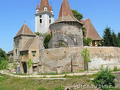 Castle and Church Transilvania
