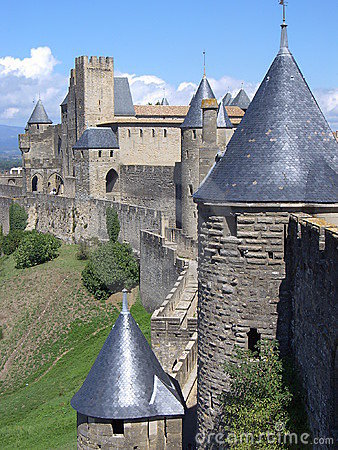 Castle of the Cité de Carcassonne ( France )