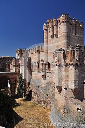 Medieval castle of Coca, Spain. Middle ages Spanish architecture