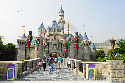Castle of Disney Land Editorial Stock Photo