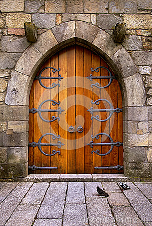 Free Castle Door Royalty Free Stock Photos - 33422938