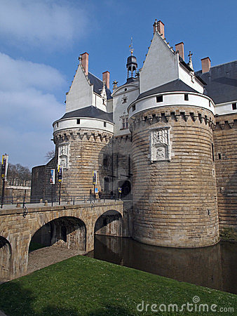 Castle of the Dukes of Brittany, Nantes, France.