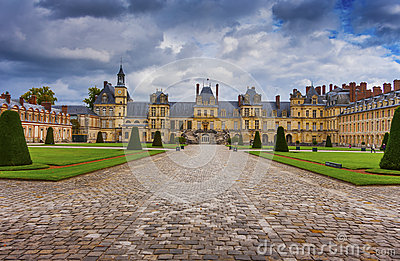 Castle Fontainebleau, France Editorial Image