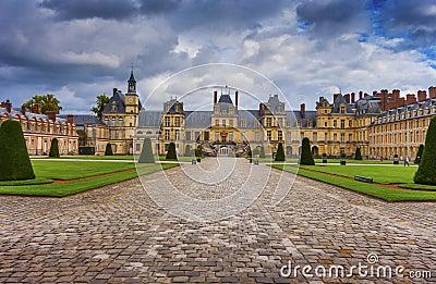 Castle Fontainebleau, France Editorial Image