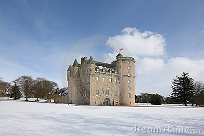 Castle Fraser in the snow