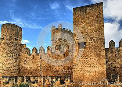 Castle of the city of Frias in Spain