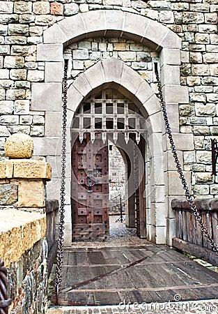Castle Front Door Stock Photo Image 17701700