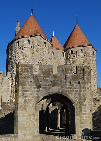 Castle gate, Carcassonne