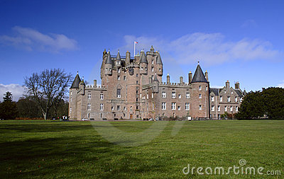 Castle of Glamis in Scotland