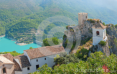 Castle in Guadalest village, Alicante, Spain